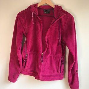 Marmot Women's Furry Fleece Zip Up Hoodie size xs